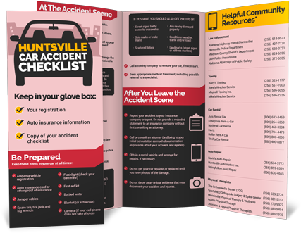 Hunstville Alabama Car Accident Checklist from Morris, King & Hodge, P.C.