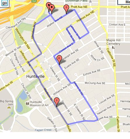 NCAC 5K route