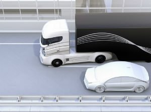 Truck blind spot causing accident