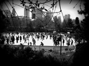 People ice skating in thepark