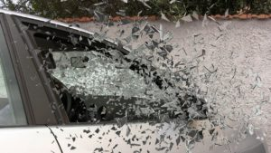glass shattering after a reckless driving car accident